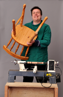 man making chair